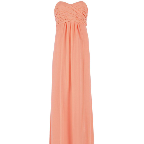 3bad8d4b140c TED BAKER Pink Silk NOUR Empire Dress Gown NWOT. M_5b34be516a0bb71198798625